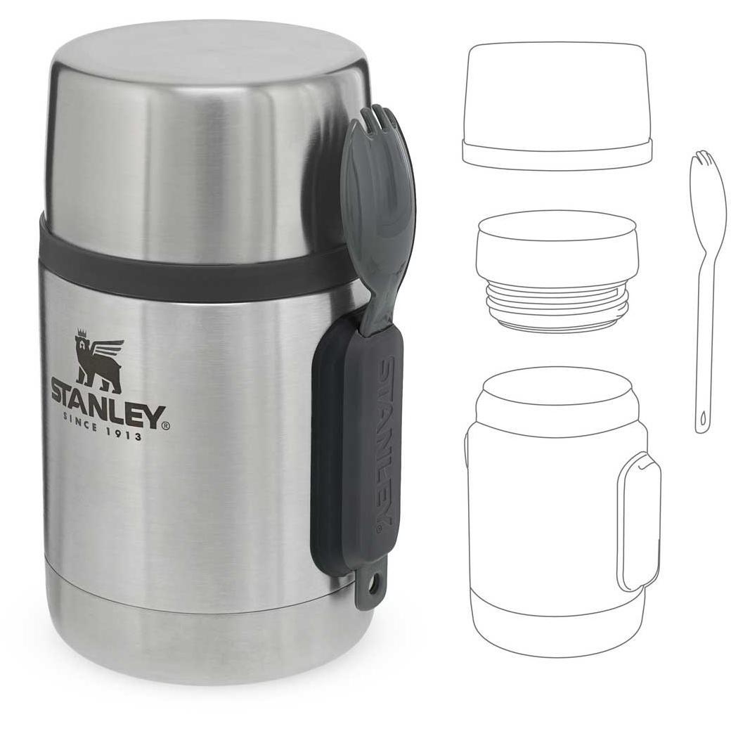 Adventure Stainless Steel All-In-One Food Jar 532 ml mit Spork