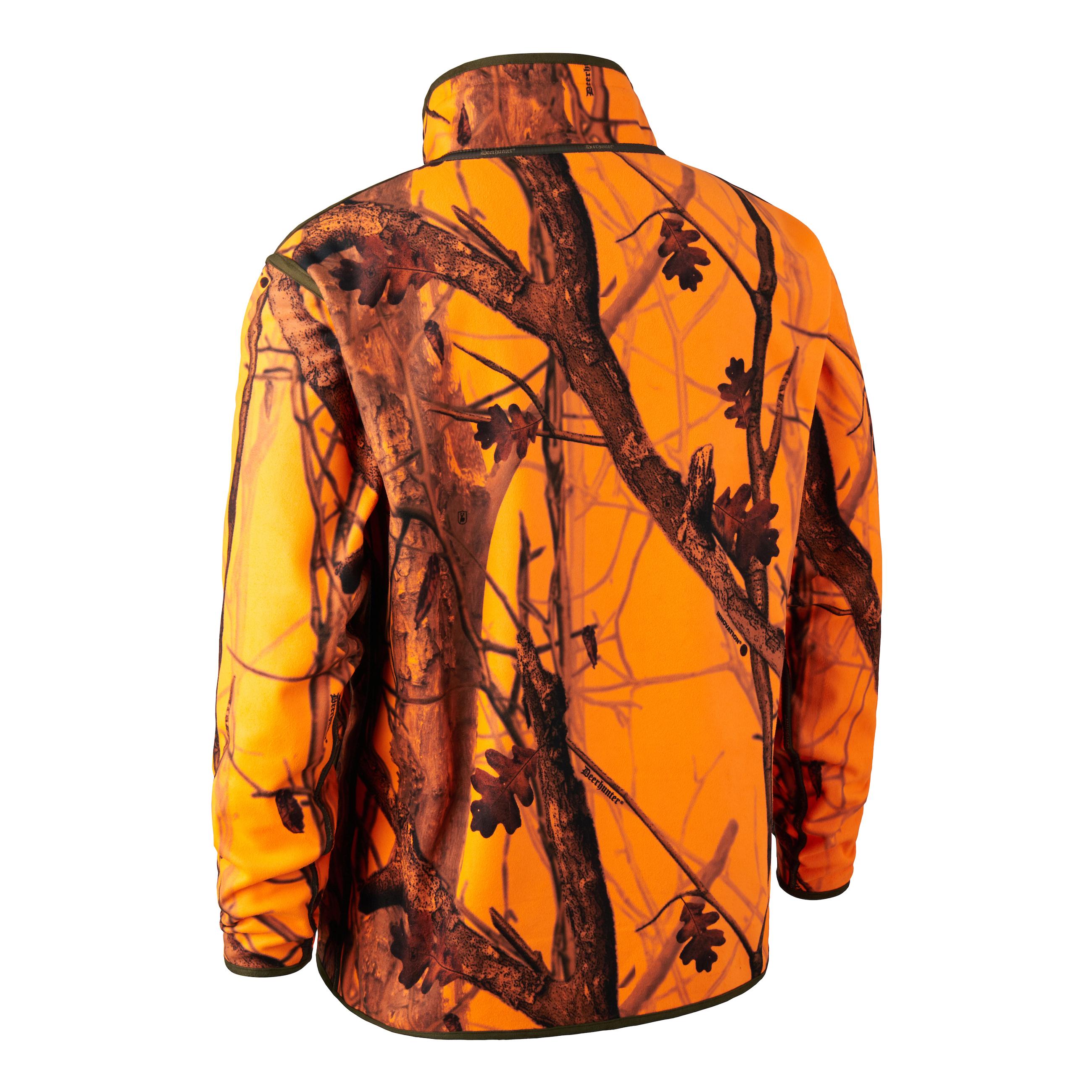 Fleecejacke Herren Gamekeeper Wendbar - Braun/Camouflage/Orange